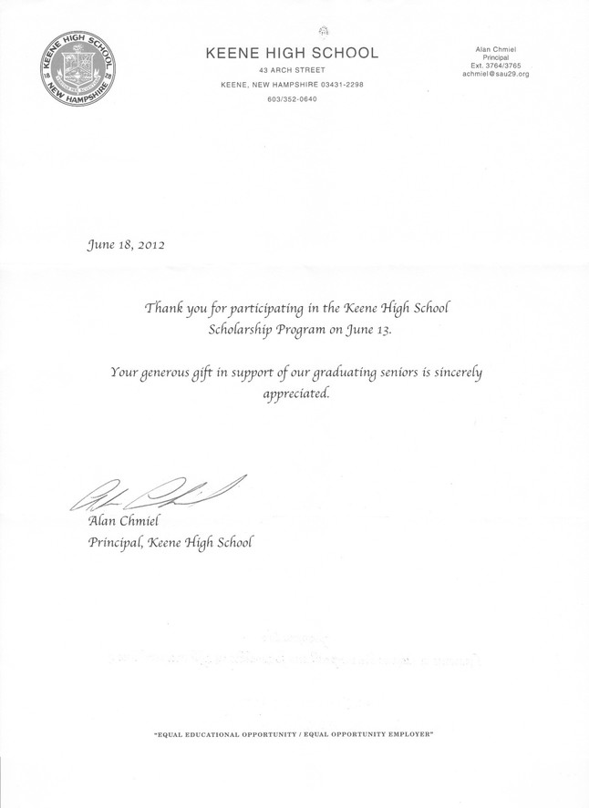 Thank You Letter For Scholarships College Scholarship Thank You